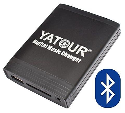 Yatour Adaptateur USB SD AUX MP3 et kit mains libres Bluetooth pour Mazda 3 BL 5 CW 6 GH CX-5 CX-7, RX8 depuis la