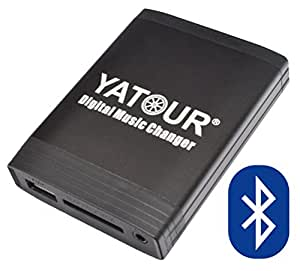 Yatour Adaptateur USB/SD/AUX/MP3/Bluetooth pour Renault Avantime / Clio / Espace / Kangoo / Laguna / Megane / Scenic / Traffic / Twingo / Modus / Velsatis / Carminat 2+ / Carminat Bluetooth CD / Cabasse Auditorium / VDO Daytona MS4100, 4150RS, 4200 RS