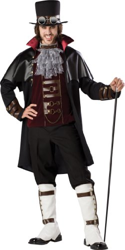 InCharacter Costumes, LLC Steampunk Vampire, Black/Red, Large