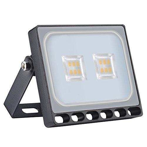 Yuanline Projecteur LED Extérieur 10W 20W 30W 50W 100W 150W 200W 300W Spot ultra-mince Blanc Chaud Phare Intérieur et Extérieur Imperméable IP67 pour Jardin Cour Terrasse Square Usine (100W)