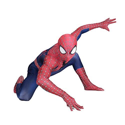 Peter Parker Spider-Man Kostüm Spiderman Kostüm Cosplay Zentai Kostüm Erwachsene Halloween Kostüm Party Film Kostüm Requisiten,Peter Parker Spiderman-M ()
