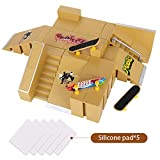 KidsHobby Kit de skate Tech Deck Finger Skateboard di Ultimate Sport Formazione Props con 8 Kit Rampa Parti e 2 Finger Boards