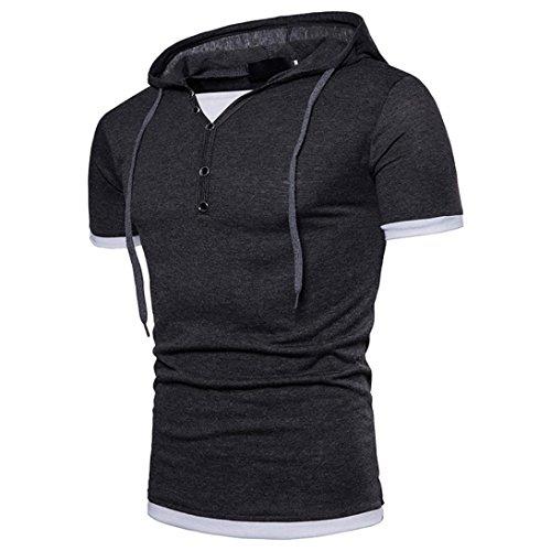 Kanpola Oversize Herren Shirt Slim Fit Sweatshirt Kapuzenpullover Hoodie Kapuze T-Shirt Tee Top (Sweatshirt Skull White)