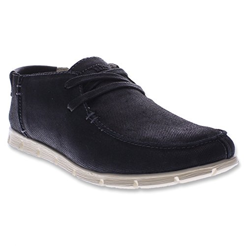 Spring Step Nico Herren Leder Slipper Black
