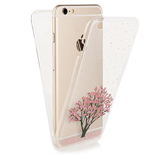 EGO-Double-Touch-Case-komplette-TPU-Silikon-Hlle-fr-iPhone-6-6S-Motiv-1-Baum-360--Grad-vorne-hinten-Beidseitiger-Schutz-Full-Handy-Tasche-transparent-Front-Back-doppelseitig