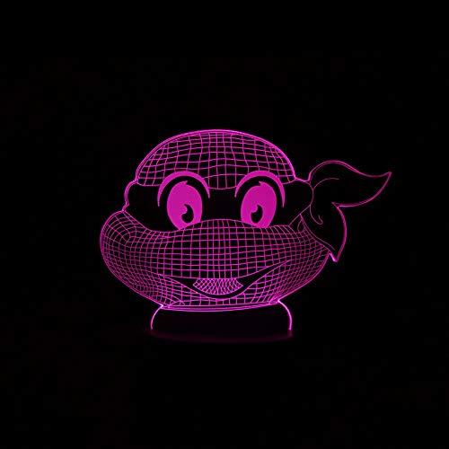 Teenage Mutant Ninja Turtles Atmosphere 3D Visual Lampe Nuit Lumière LED Chambre Mariage Décoration De Vacances Et Cadeau De Famille Présent