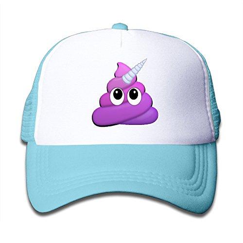 Emoji Caca Unicorn Juniors Cool snapbacks malla visera Starter Snapback sombreros gorras de béisbol -  Azul -