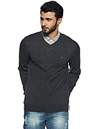 a108c29dad577 TOMMY HILFIGER Men s Wool Sweater (8907504766505 A7AMS123 S Charcoal HTR)