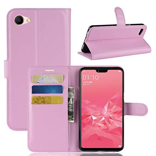Casewin Oppo A3 Hülle, Handyhülle Leder Handytasche Schutzhülle Tasche Flip Case Brieftasche Kreditkartenhaltern Standfunktion Hülle pink