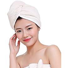 Mujeres Damas gorro de baño ducha microfibra toalla secador Epais absorbente sombrero de Spa piscina ligero