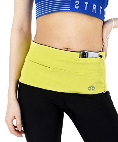 HoHo Running Gürtel, Pack, Reisen Geld aus, Gürtel, passend für alle Größe Smart Phone, Pass und mehr, grün, X-Large/W 14-16 / M 36-40 / See Size Chart -
