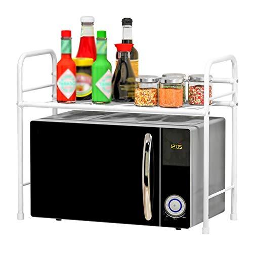 WWJHH-Kitchen shelf KüChenregal Mikrowelle Regal LüFtung Feuchtigkeitsfest Einfache Lagerung Metall Arbeitsplatte Bodenablage Ablage Weiß 23,6x11,8x19,6 Zoll