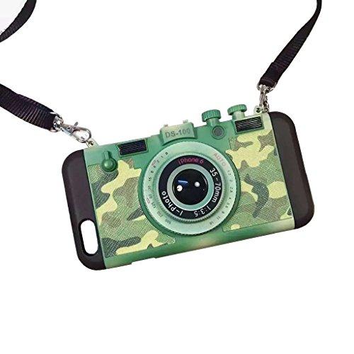 iPhone SE Housse et étuis Case,3D Style de Camera Phone Housse pour Apple iphone5/5s,La modélisation de la caméra stéréo couvrir les cas pour iPhone SE/iphone 5s/iphone 5 - Camouflage Green camouflage vert