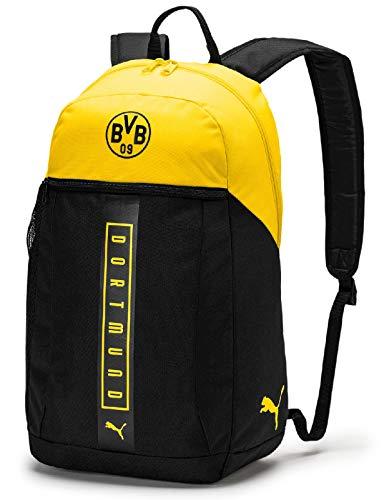 PUMA BVB Fan Backpack Rucksack, Black-Cyber Yellow, UA