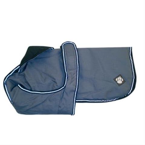 Luxury Water Proof Dog Coat Colour: Dusty Blue, Size: 25cm