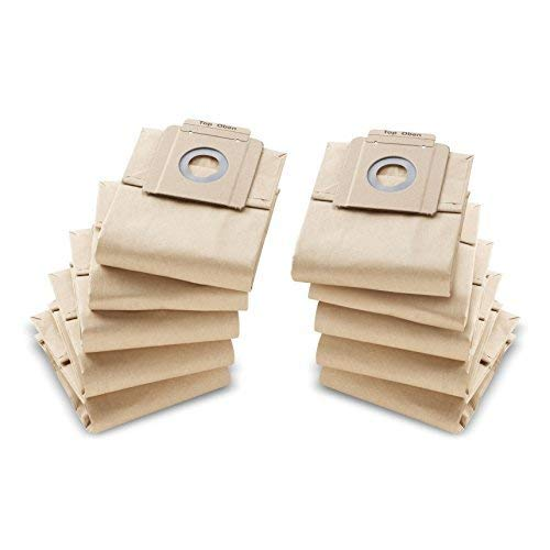 KÄRCHER original Papierfiltertüten 6.904-333.0 für T 7/1, T 10/1, T 9/1 eco efficiency, 10-er Pack