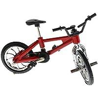 Sharplace Bici de Dedo de Ruedecilla Juguete Regalo de Bicicletas para Niños - Rojo