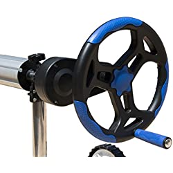 Enrollador de cubierta piscina para manta térmica hasta 6.45m 101Ø Alta resistencia (Con reductor de esfuerzo)