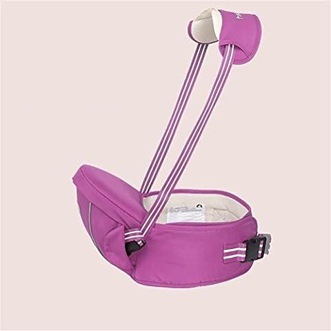 Baby-Träger Breathable Hüft-Sitzträger Ergonomisches Design Front-Style mit abnehmbarem Sitzgurt Verstellbare Neugeborene Portable Multifunktions-Rucksackträger , purple