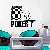 guijiumai As of Spades Poker Sign Chips Casino Gambling Wall Art Sticker Vinyl Decal Waterproof Wallpaper Modern Mural Room Red L 67x57cm