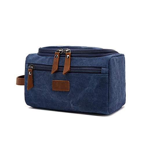 Alian europei e americani stile multifunzionale viaggio storage bag borsa portatile conveniente trousse da borsa di tela per uomini e donne. blue