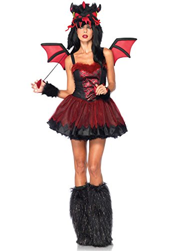 Leg Avenue 85138 - Dämon Drachen Kostüm, Größe XS, - Leg Avenue Kostüm Drache