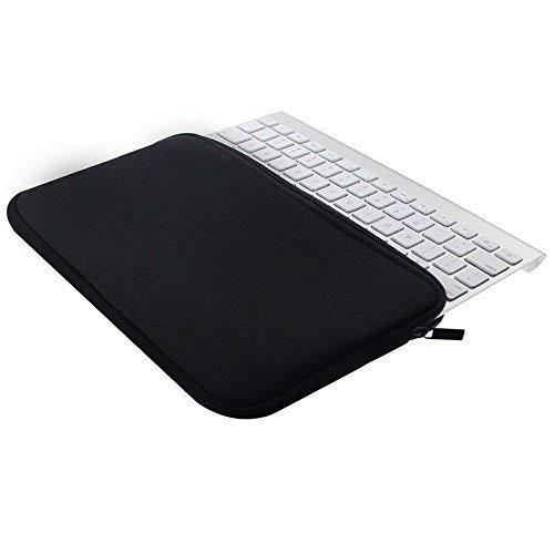 orchidtent schwarz Farbe Qualität Neopren Keyboard Sleeve Tastatur Fall Tasche mit Reißverschluss für Apple Bluetooth Wireless Tastatur mc184ll/B -