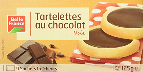 Belle France Tartelettes au Chocolat Noir 125 g - Lot...