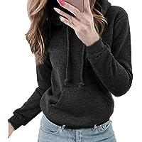 Hanomes Damen pullover, Frauen Solid Langarm Casual Kapuzenpullover Pullover Top Bluse preisvergleich bei billige-tabletten.eu