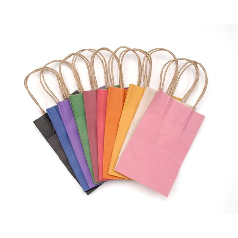 Darice 1167-46 1Piece, Solid Color Paper Bag with Handle,