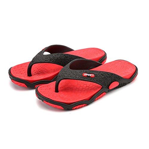Eagsouni® Herren Sandalen Slipper Zehentrenner Flip Flops Thong Pantoffeln Rot