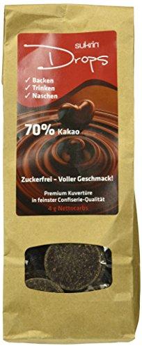 "SUKRIN\""Choc drops\"" Kuvertüre, 2er Pack (2 x 100 g)"