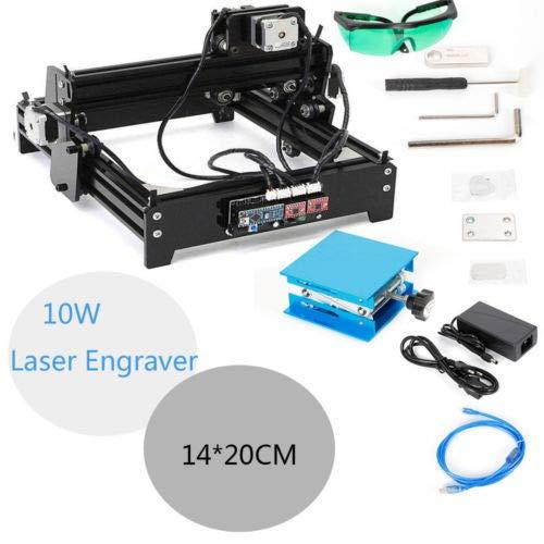 BTdahong CNC-Mini - Máquina de grabado a láser (10 W, 14 x 20 cm)