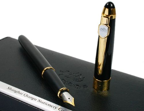 lattest-jinhao-black-gold-fountain-pen-pen-barrel-is-finished-in-vivid-black-lacquer-accent-trim-is-