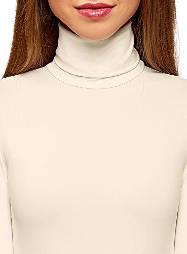 oodji Ultra Donna Maglione Dolcevita Basic Bianco (1200N)