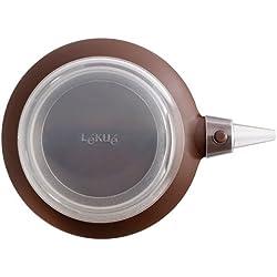 Lékué - Decomax - Manga pastelera de silicona 6 boquillas, marrón