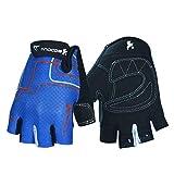LOUMVE Fitness Handschuhe Männer Frauen Outdoor Radfahren Handschuhe Halbfinger Sport Handschuhe Blau S