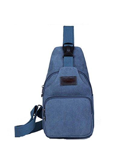 FZHLY New Diagonal Kreuz Brusttasche Koreanische Version Des Canvas Männer Oblique Brusttasche,Blue Blue