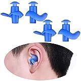 SVNA Wiederverwendbare Schwimmen Ohrstöpsel Ausgestattet Ohr wasserdicht silikon ohrstöpsel für dusche Baden und andere wassersportarten für Kinder Erwachsene größe (2 Pairs),Earplug2,Child