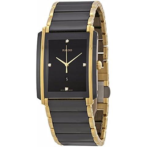 Rado Integral R20204712diamantes dorado Acero Inoxidable Caso Multicolor Cerámica Antireflex Zafiro–Reloj de pulsera hombre