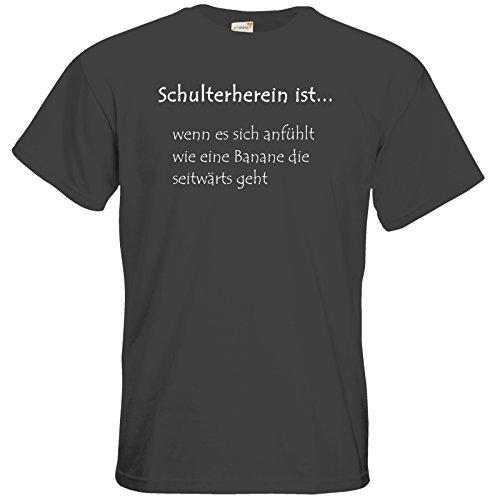 getshirts - Tinchens Wonderworld Official Merchandise - T-Shirt - Schulterherein Dark Grey