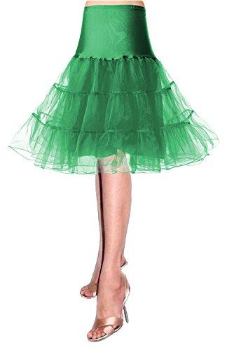 Sottogonne petticoat 50s Sottovesti e sottogonna Gonne da donna Retro petticoat crinolina tutu Annata swing 50s Intimo modellante da donna swing vintage sottogonna tulle gonna tulle skirt gonna Verde
