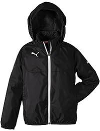 PUMA Regenjacke Rain Jacket - Guantes de fútbol sala, color negro, blanco, talla 164
