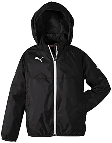 PUMA Kinder Jacke Rain Jacket, black-white, 164, 653968 03