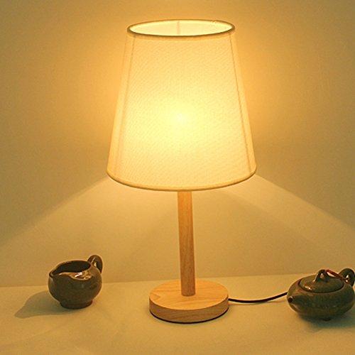 Madera sólida Retro Simple Lámparas de mesa,Dormitorio Lámpara ...