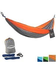 Overmont 300x200cm Tragbar Leicht Hängematte für Wandern Reisen Strand Garten Camping Outdoor Sport 300kg Tragfähigkeit Blau/Grün/Orange