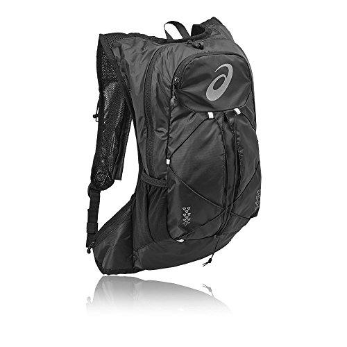 Asics Rucksack (Asics 131847 - 0946 Polyester, schwarz, Rucksack für Laptop und Notebook (Polyester, einfarbig, 240 mm, 100 mm))