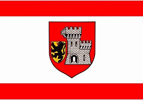 magFlags Drapeau XL Grevenbroich   Das Banner der Stadt Grevenbroich ist Rot-Weiß-Rot im Verhältnis 1 4 1 längsgestreift mit dem etwas über Die Mitte nach Oben verschobenen Wappen