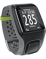 TomTom Multi-Sport GPS Sportuhr mit für Leichtathletik, Radfahren und Schwimmen, Farbe Grau, Größe L