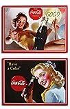Coca Cola Magnete für Kühlschrank, Tafel oder Pinnwand 9 x 6,5 cm NEU Magnet Metallschild verschieden Sortiert!